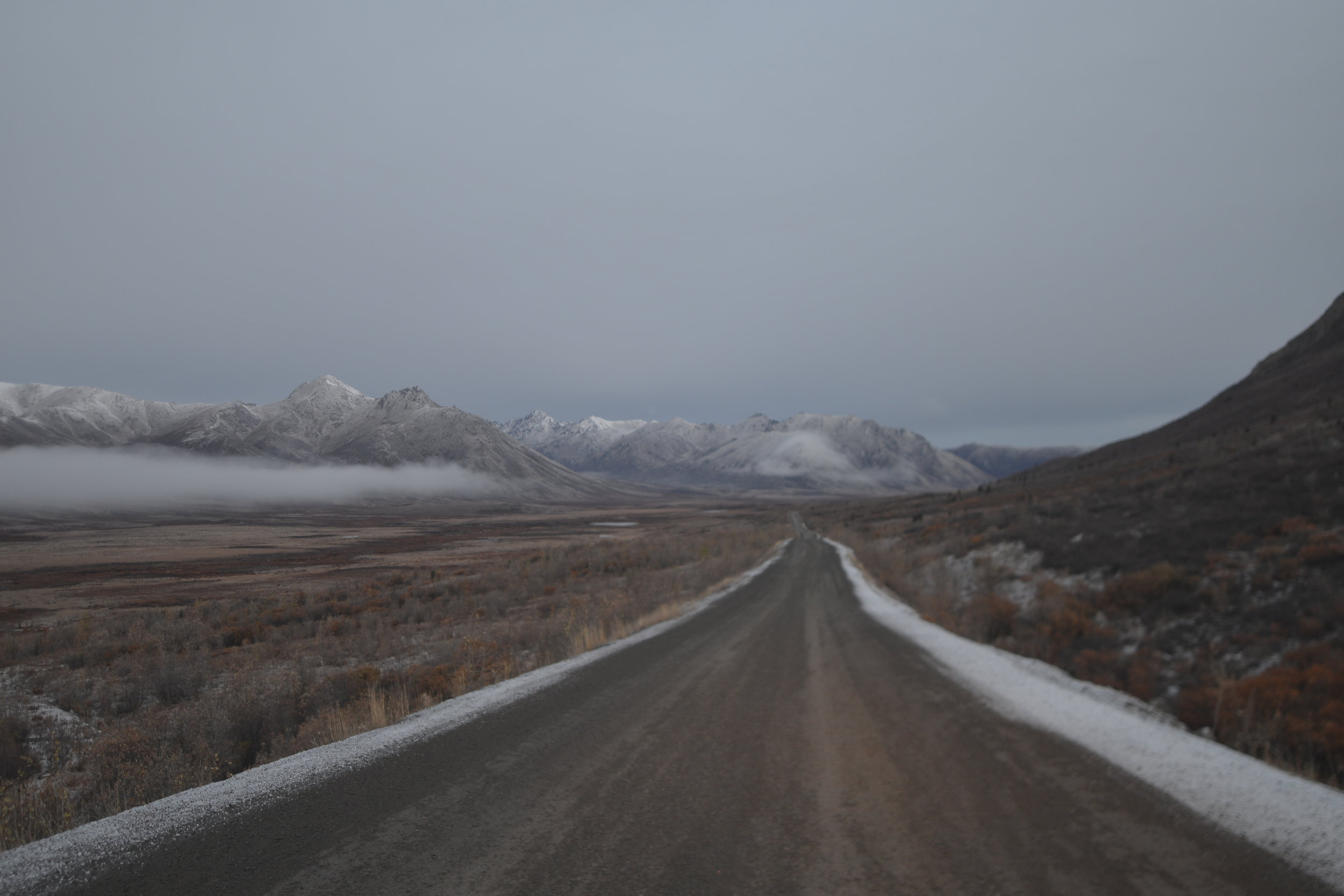 Tombstone National park in the Yukon Territory before sunrise.
