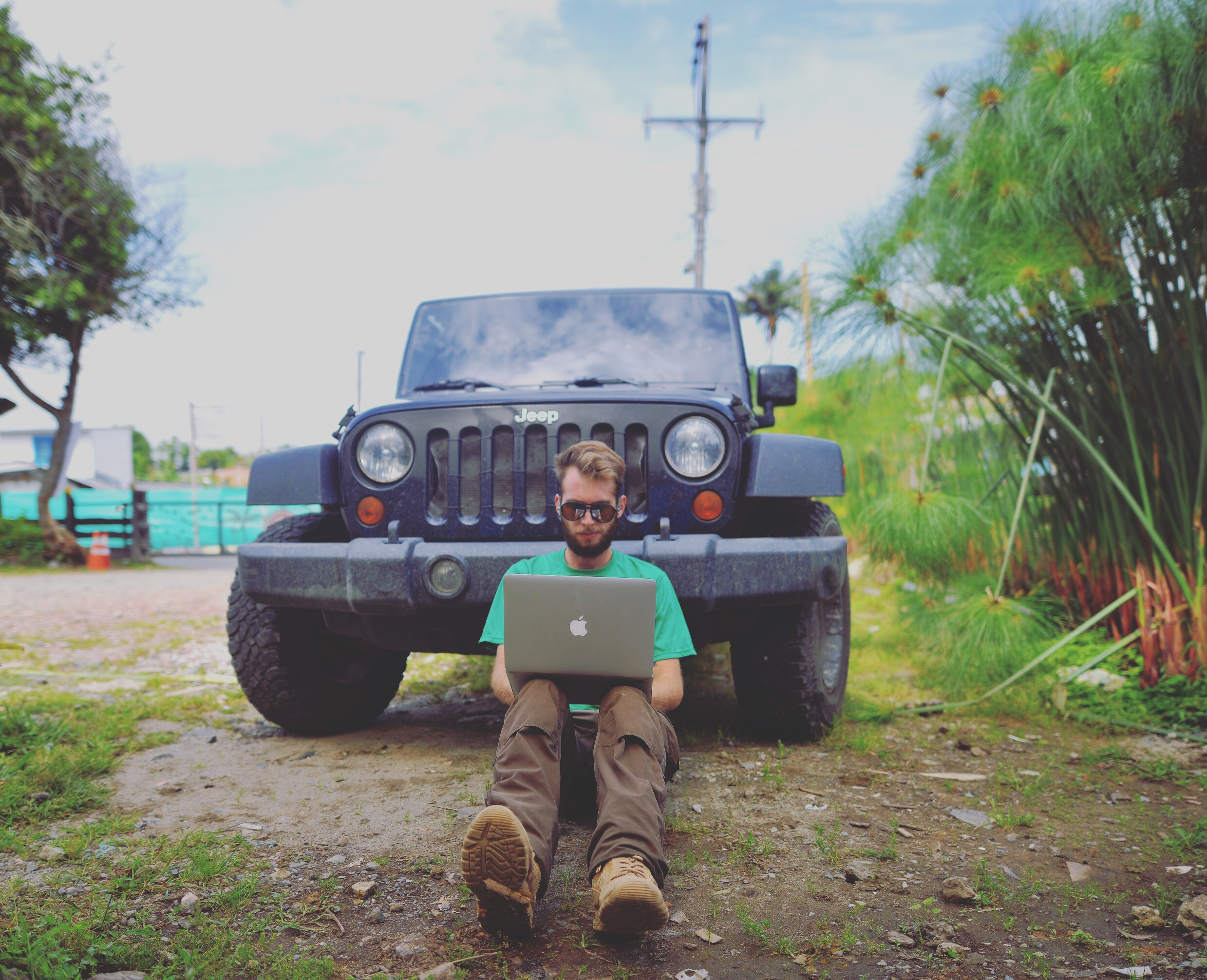 Me in Colombia, learning how to code.