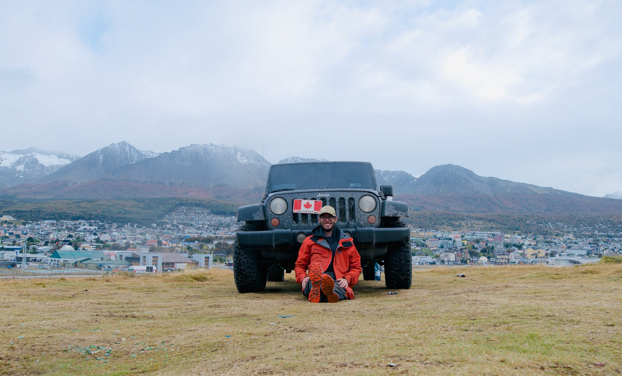 Jeep in Ushuaia panamerican