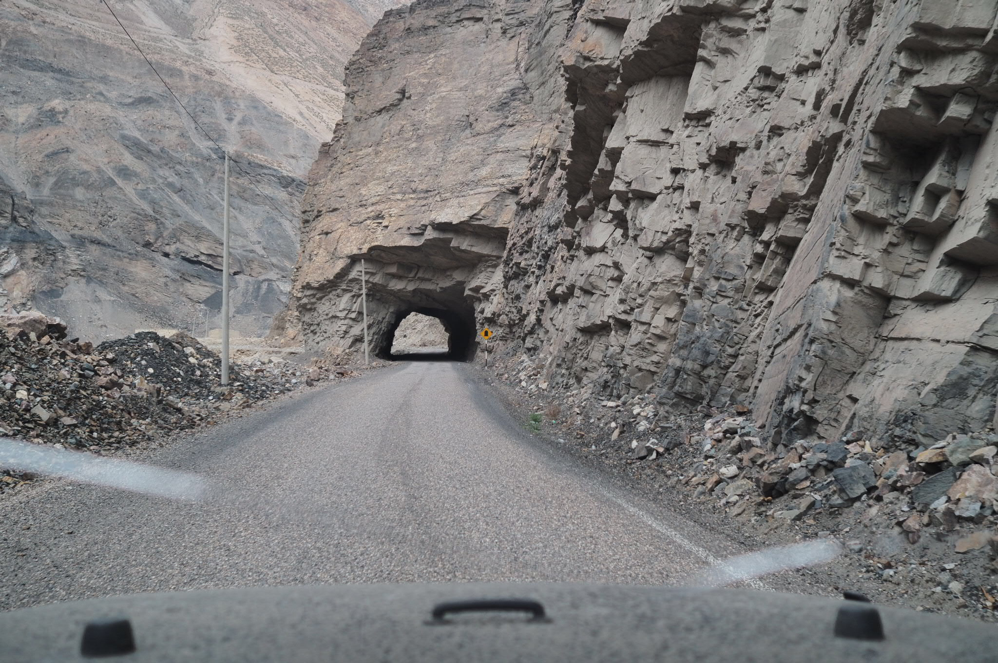 Driving through the Andes in Peru…this road was pure suicide…blind corners, in tunnels, with one lane sometimes…absolutely insane.