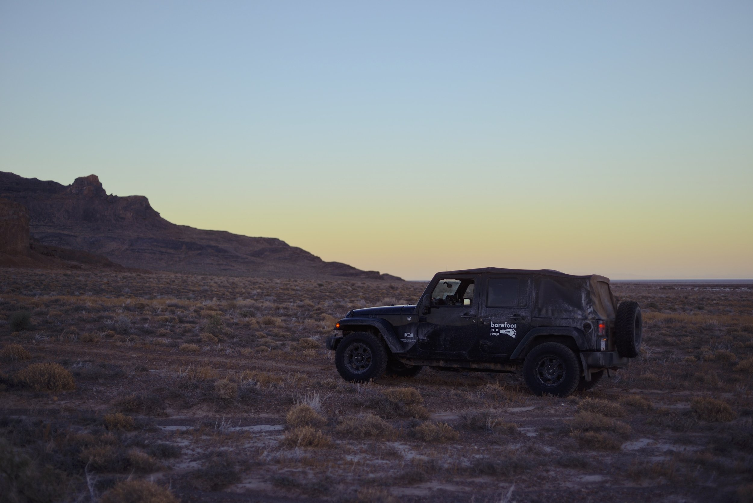 Nevada, USA. Finding a good campground for the night.