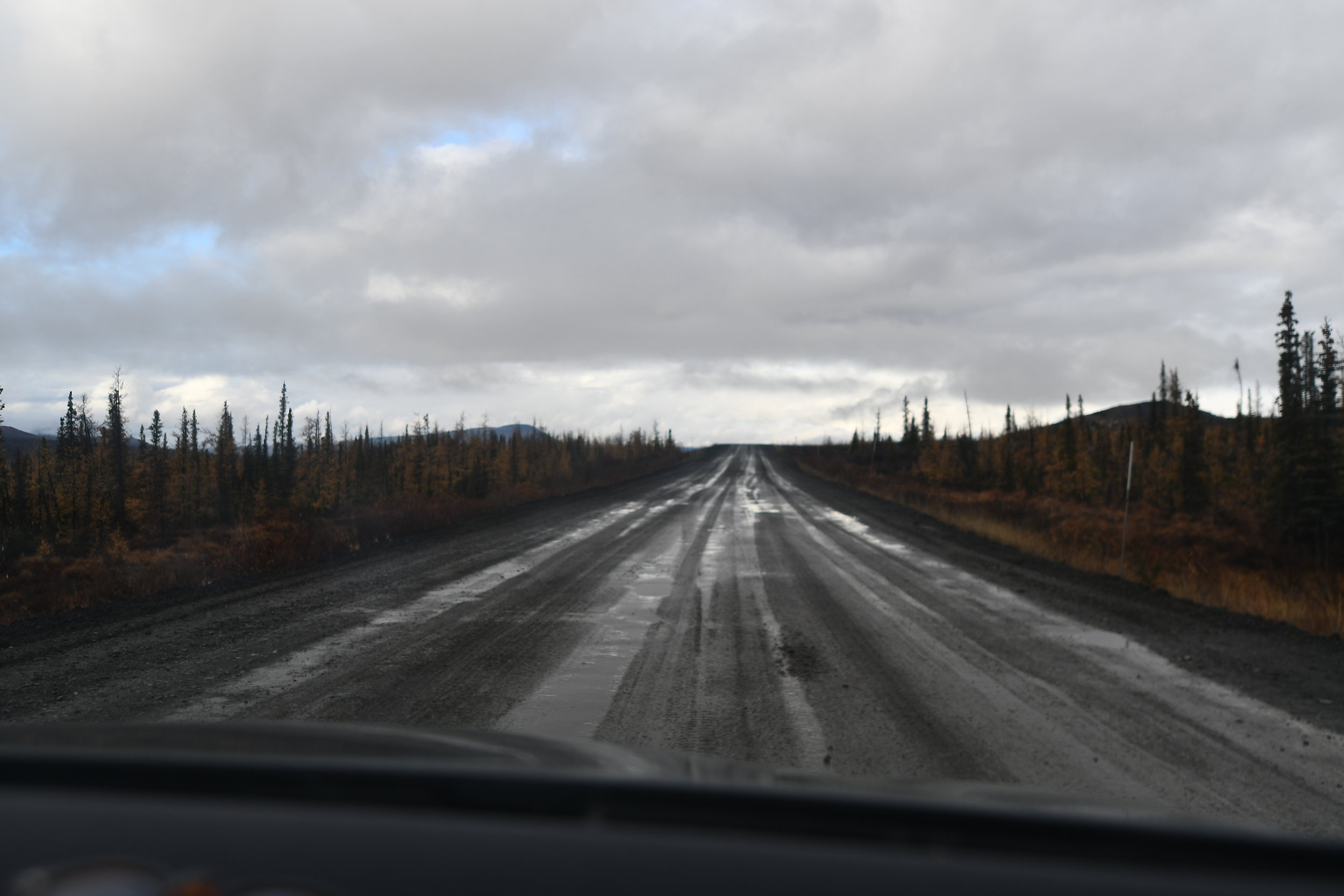 Dempster Highway! One of the craziest stretch of roads in the Americas. It is NOT recommended to do it on summer tires in the Fall, like we did.