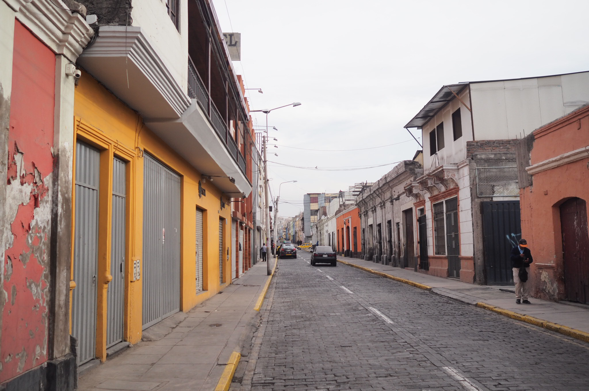 In the street of Peru.