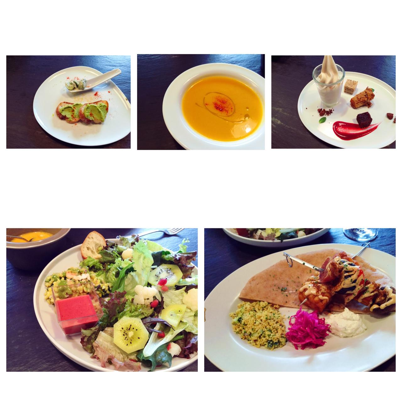 前菜からサラダ、メイン、デザートまで、旬のお野菜たっぷり、目にも美しい優しい味のメニューでした✨