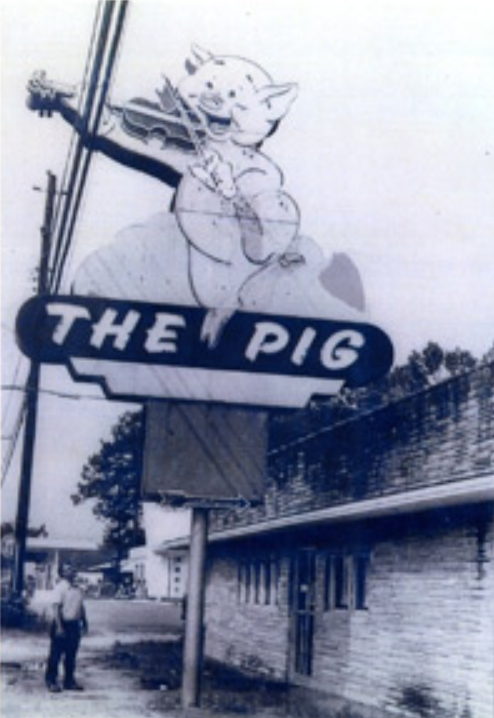 Al Aspinwall and the Fiddling Pig Sign