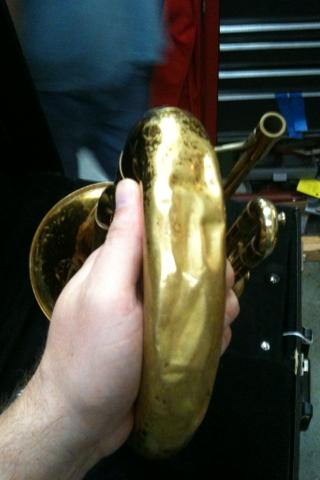 Baritone bell crook: Before