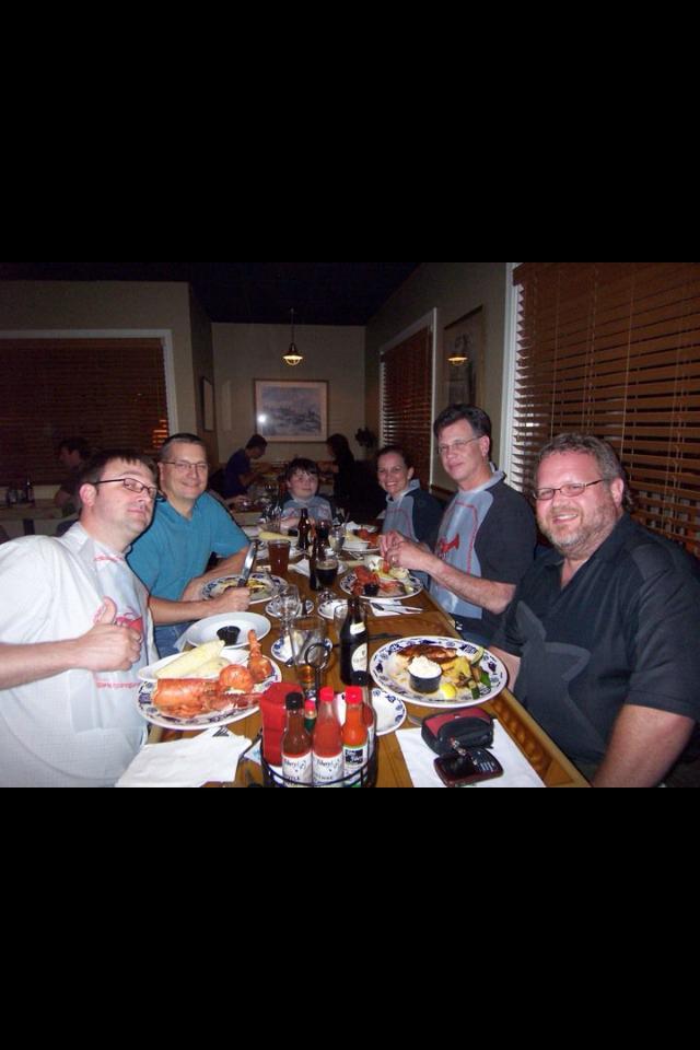 VIP dinner after Roger's Masterclass