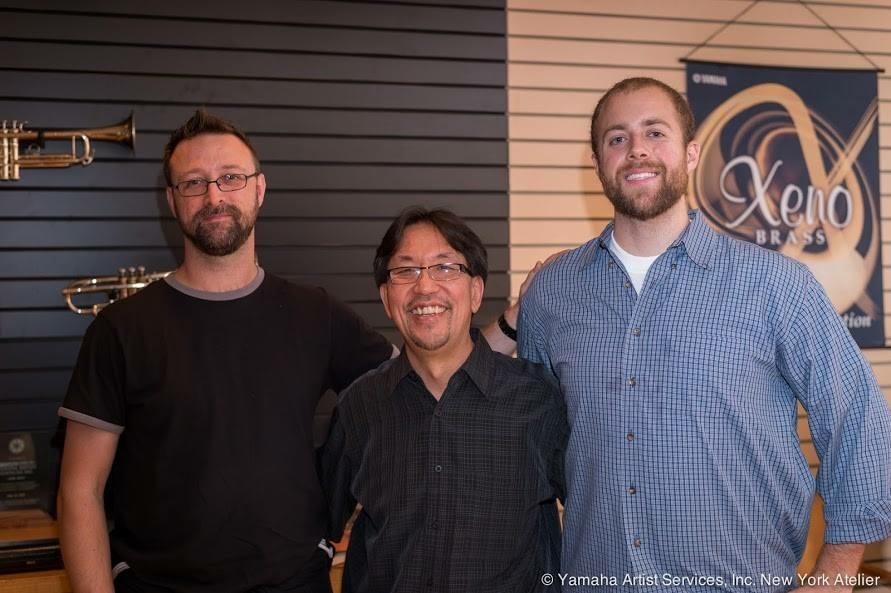 Chris w/ Wayne Tanabe & Garrett Faccone at Yamaha Artist Services in NYC