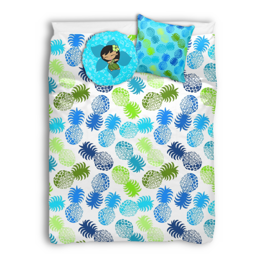 Pineapple Print–Turquoise Color Story