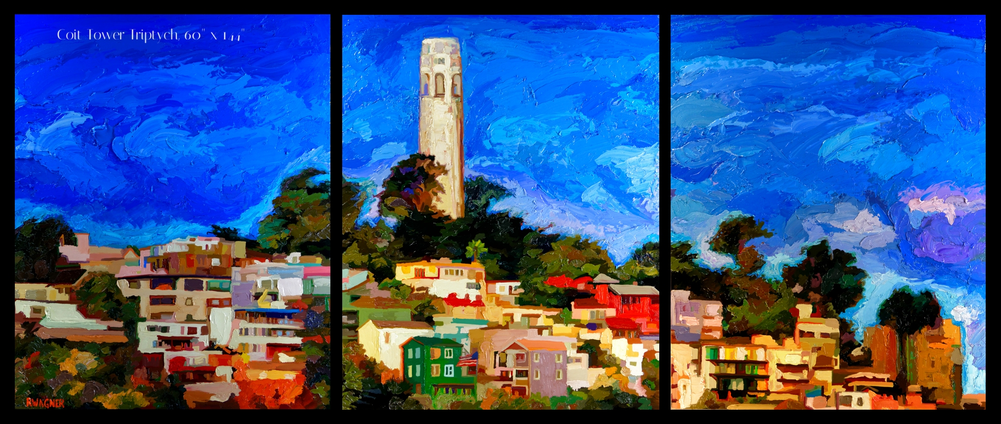 Coit Tower Triptych