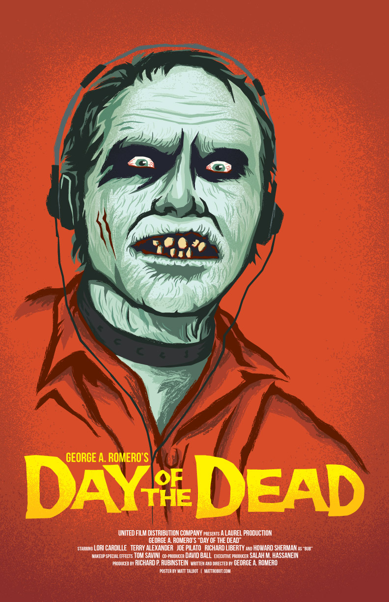 George Romero's Day of the Dead Poster by Matt Talbot