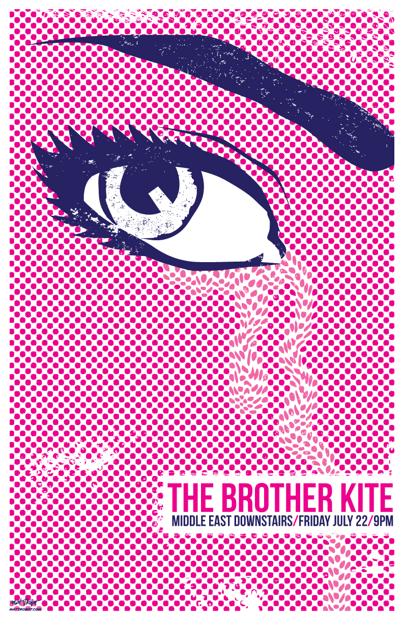 The Brother Kite gig poster by Matt Talbot