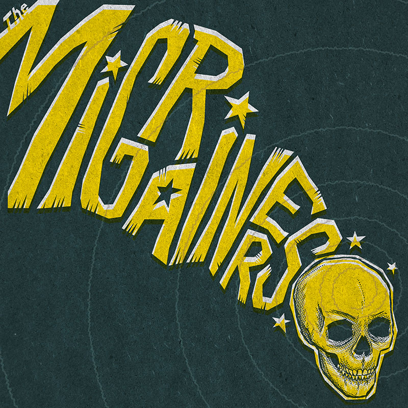 The Migrainers album cover by Matt Talbot