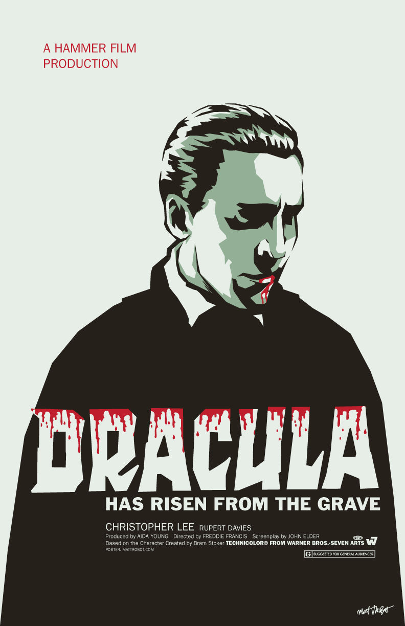 Dracula Has Risen From The Grave poster by Matt Talbot