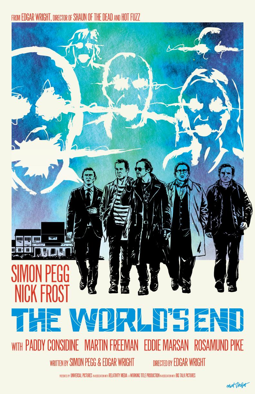 The World's End poster by Matt Talbot