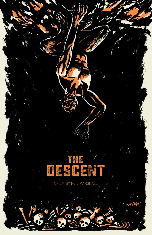 The Descent poster by Matt Talbot