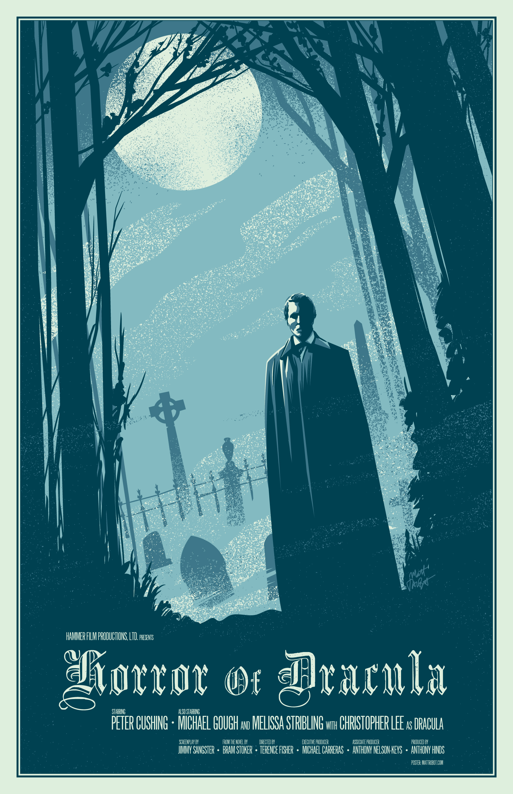 Horror Of Dracula Poster by Matt Talbot