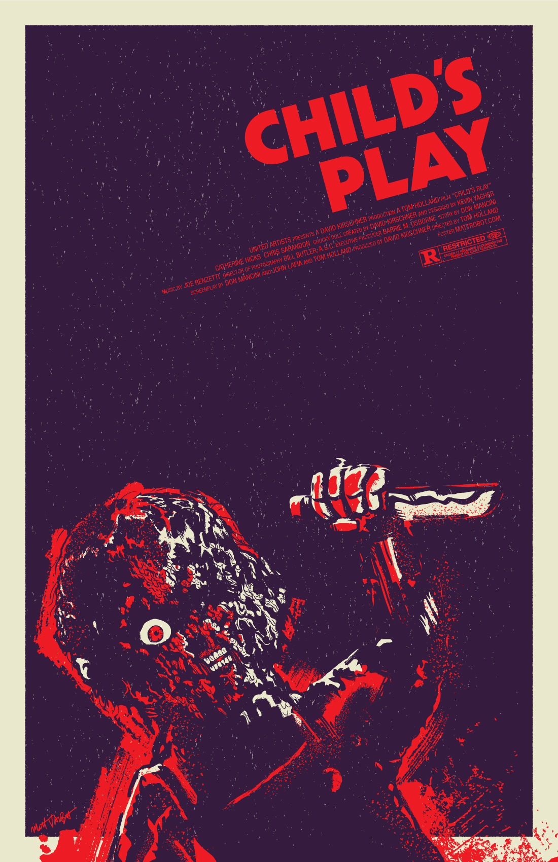 Child's Play Poster by Matt Talbot