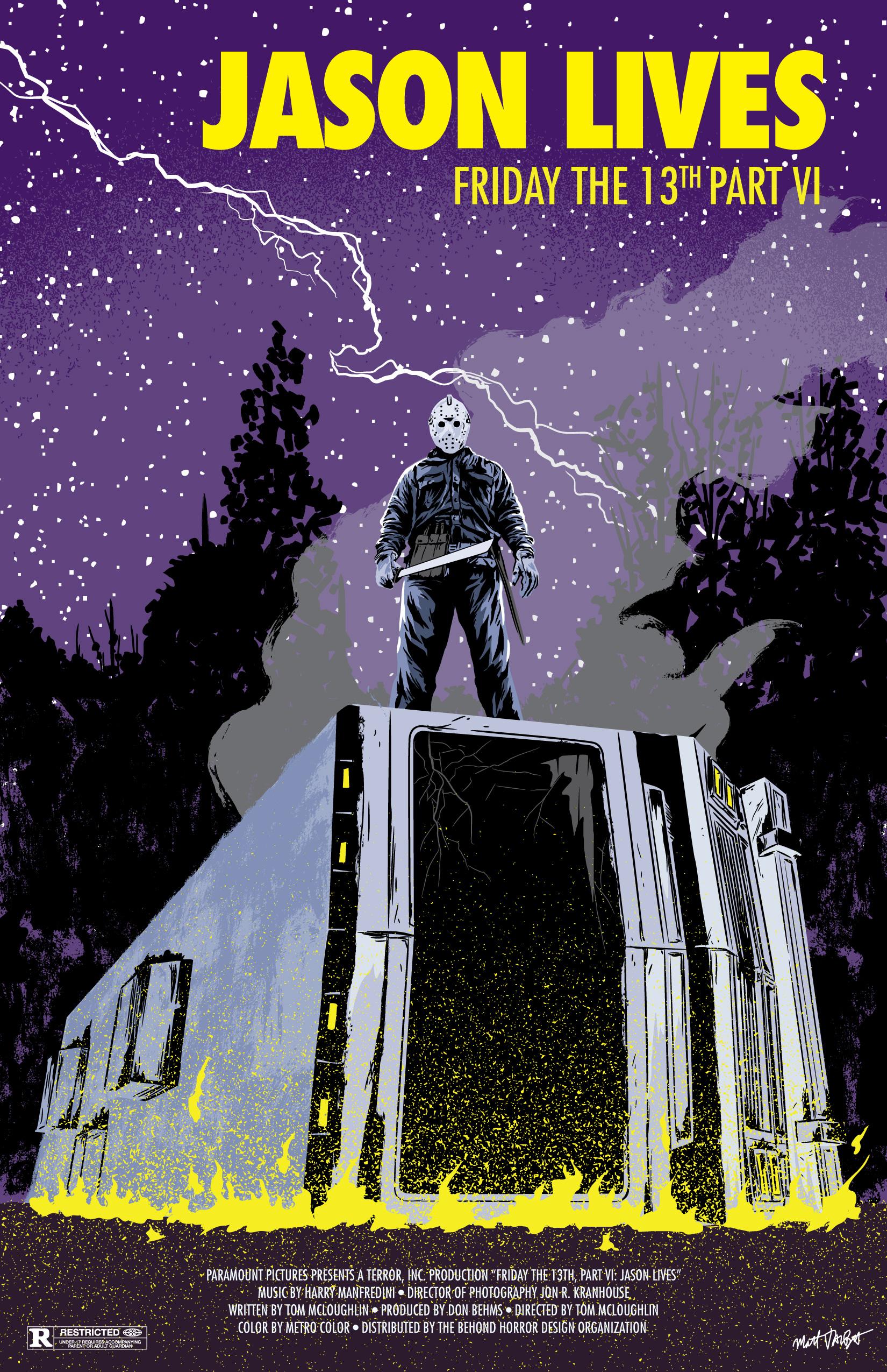Friday the 13th Part VI Jason Lives Poster by Matt Talbot