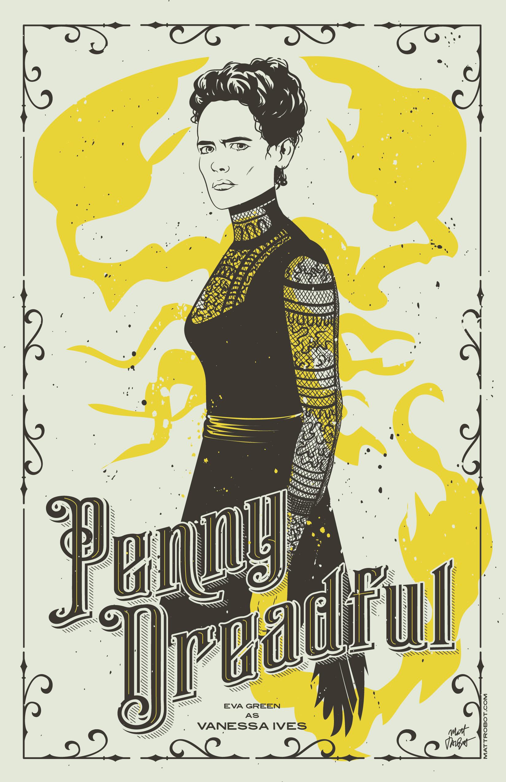 Penny Dreadful Poster by Matt Talbot