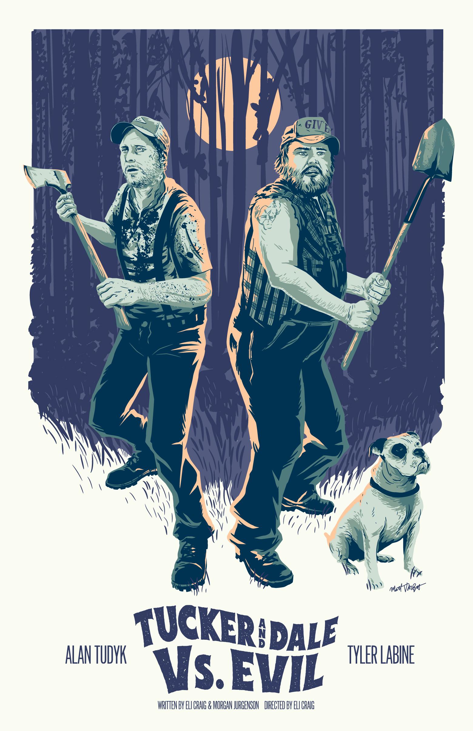 Tucker and Dale vs. Evil poster by Matt Talbot