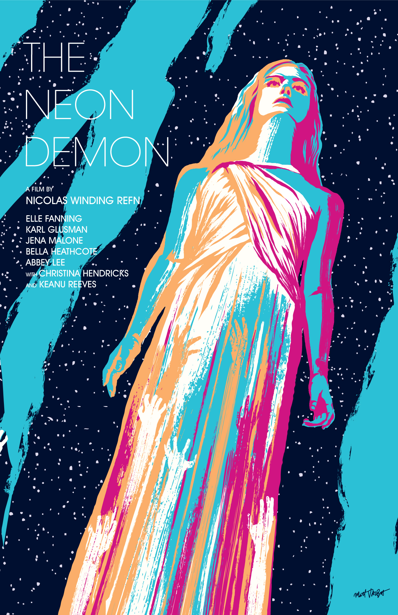The Neon Demon poster by Matt Talbot