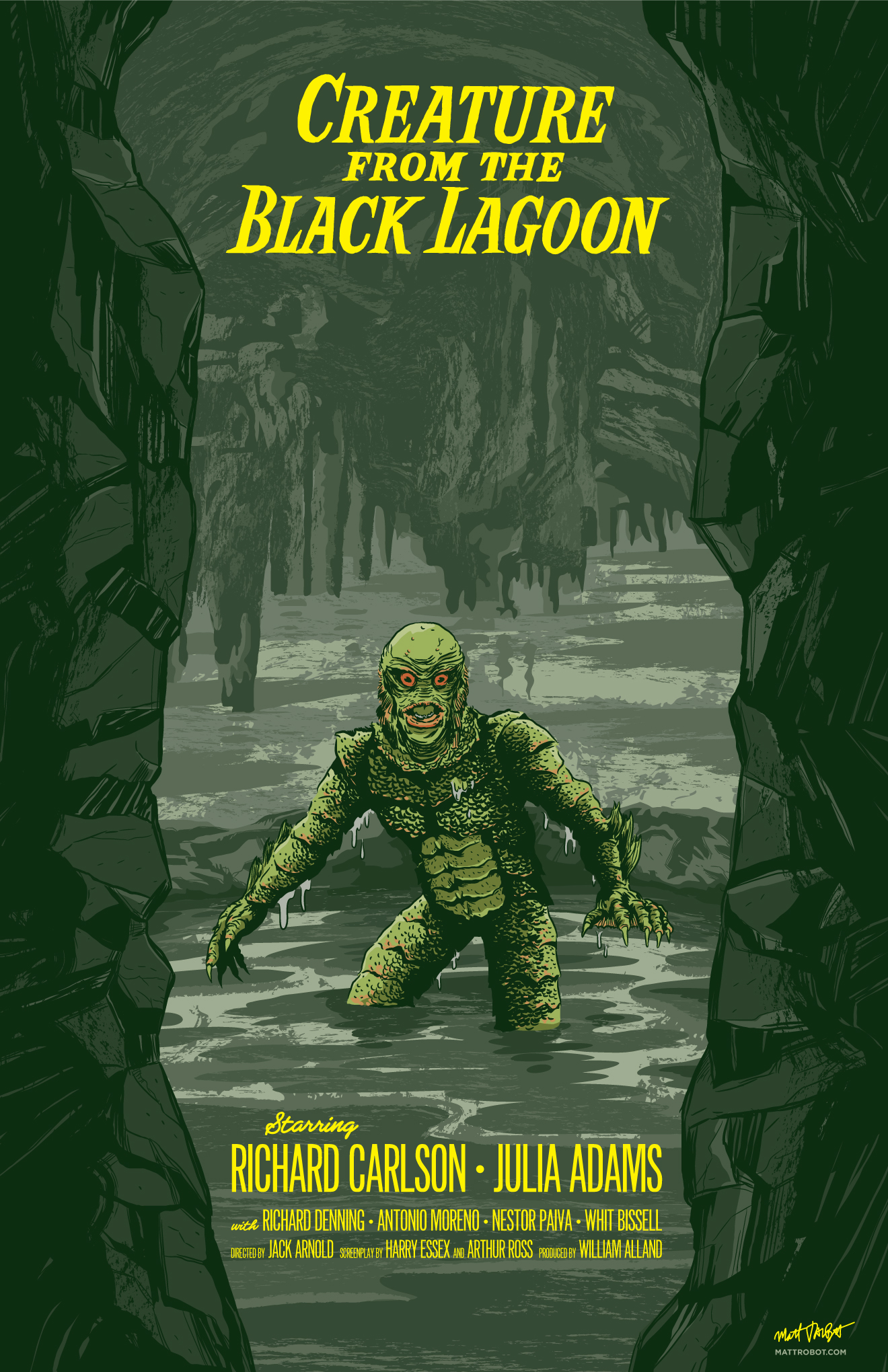 Creature from the Black Lagoon poster by Matt Talbot