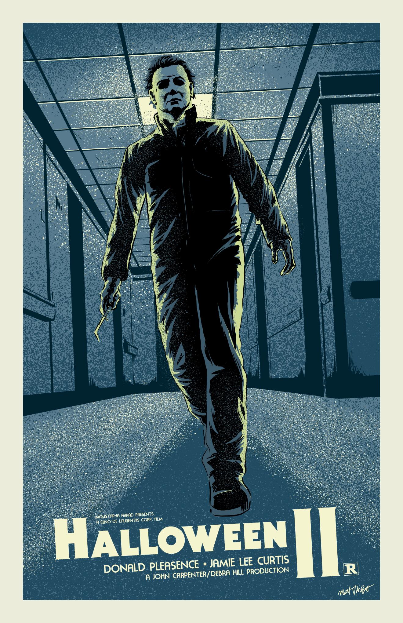Halloween II (1981) poster by Matt Talbot