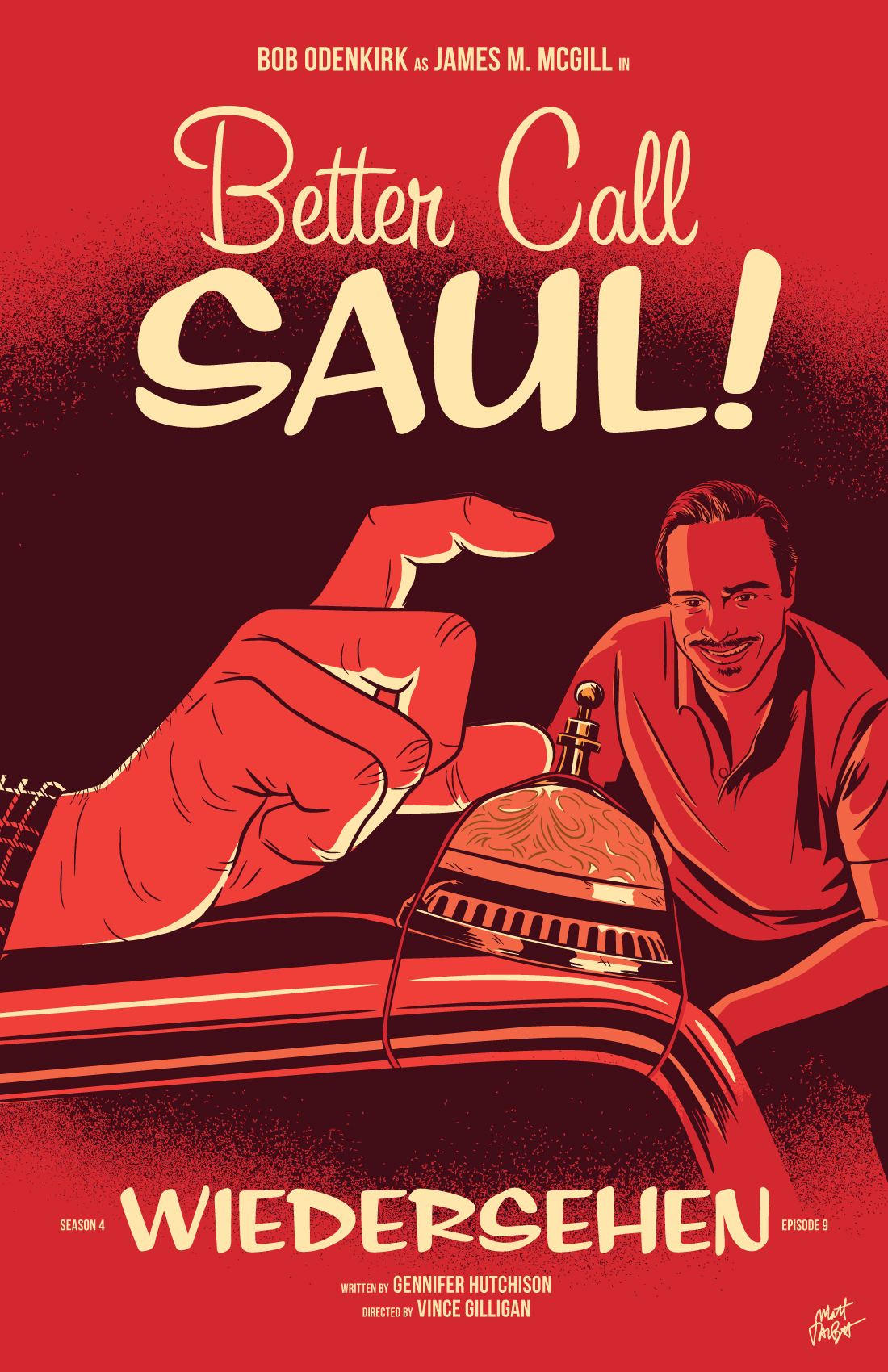 Better Call Saul season 4 episode 9, Wiedersehen, poster by Matt Talbot