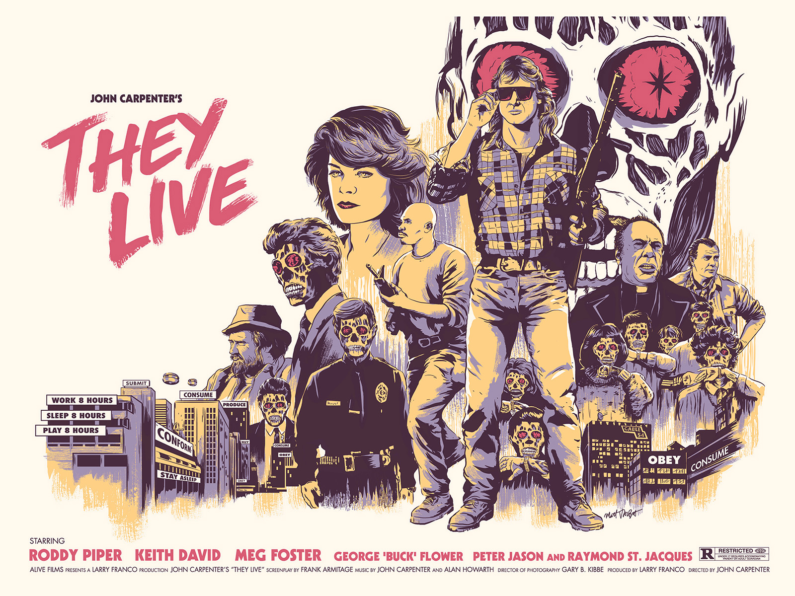 They Live print by Matt Talbot for Gallery 1988