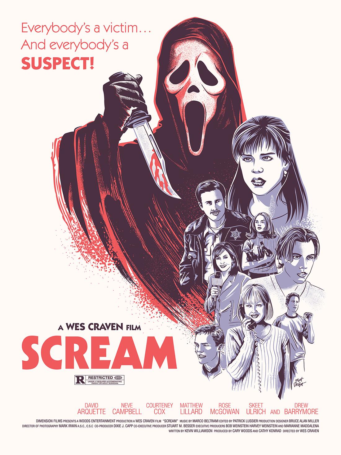 Scream poster by Matt Talbot