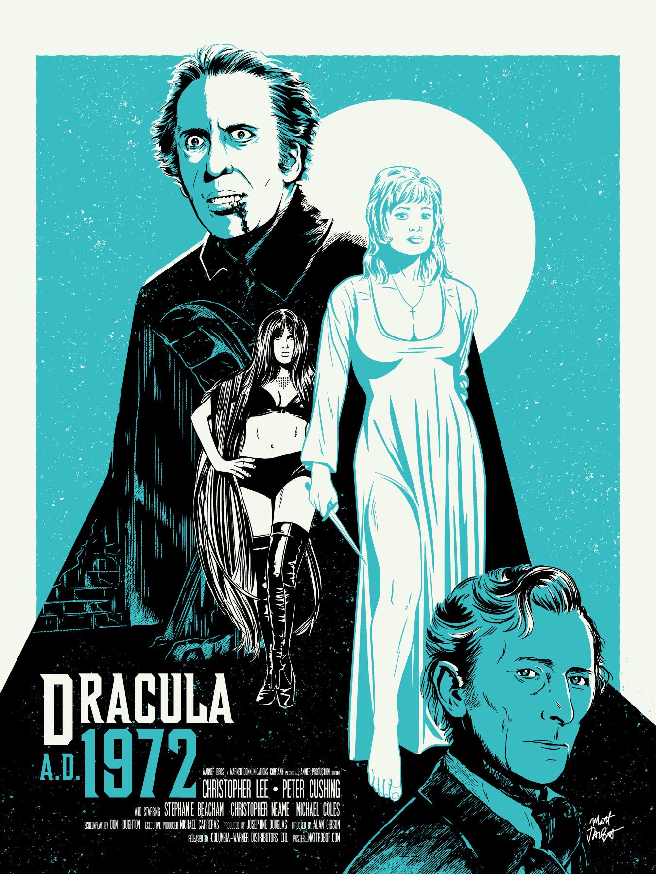 Dracula A.D. 1972 poster by Matt Talbot