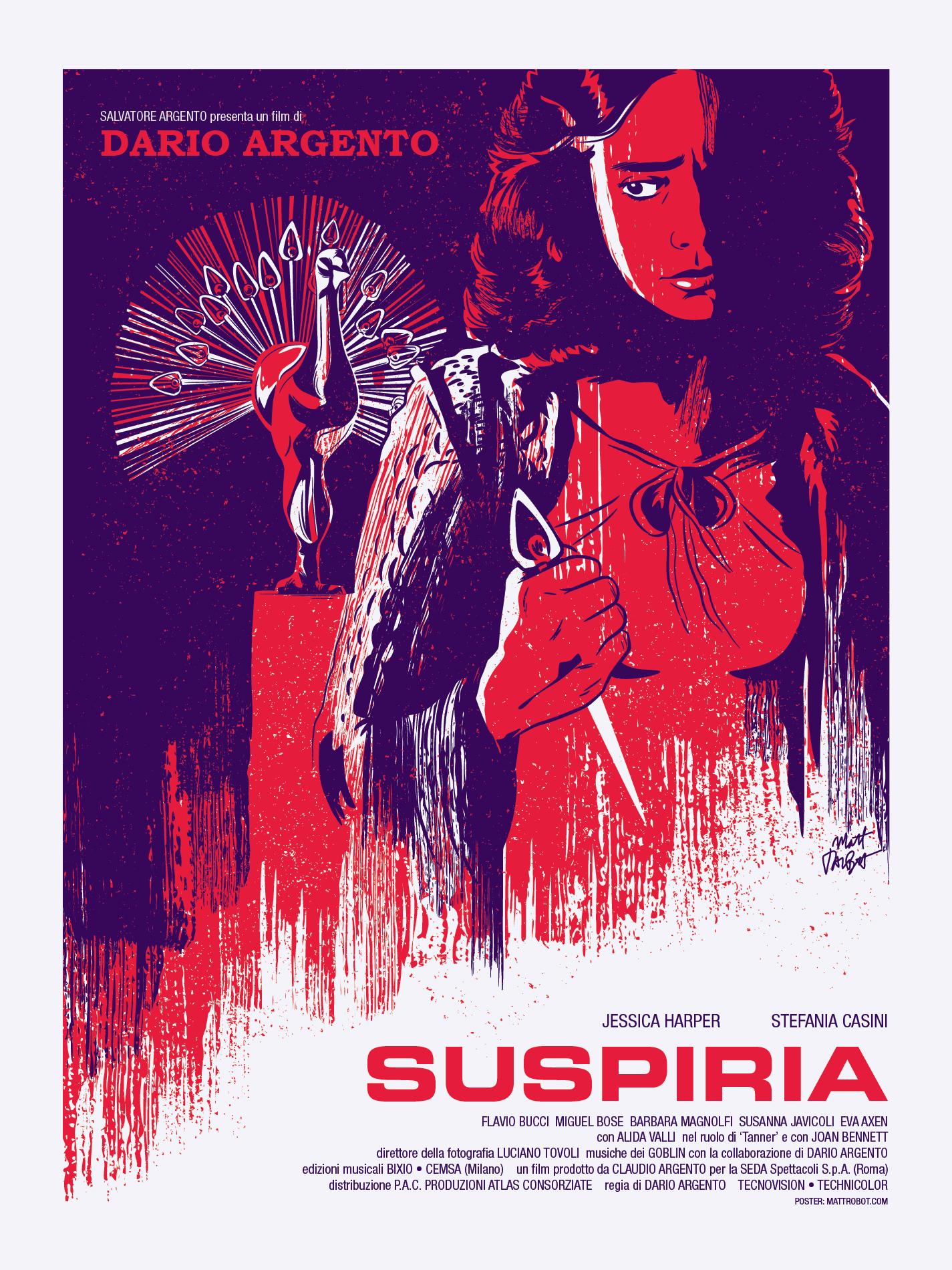 Dario Argento's Suspiria poster by Matt Talbot