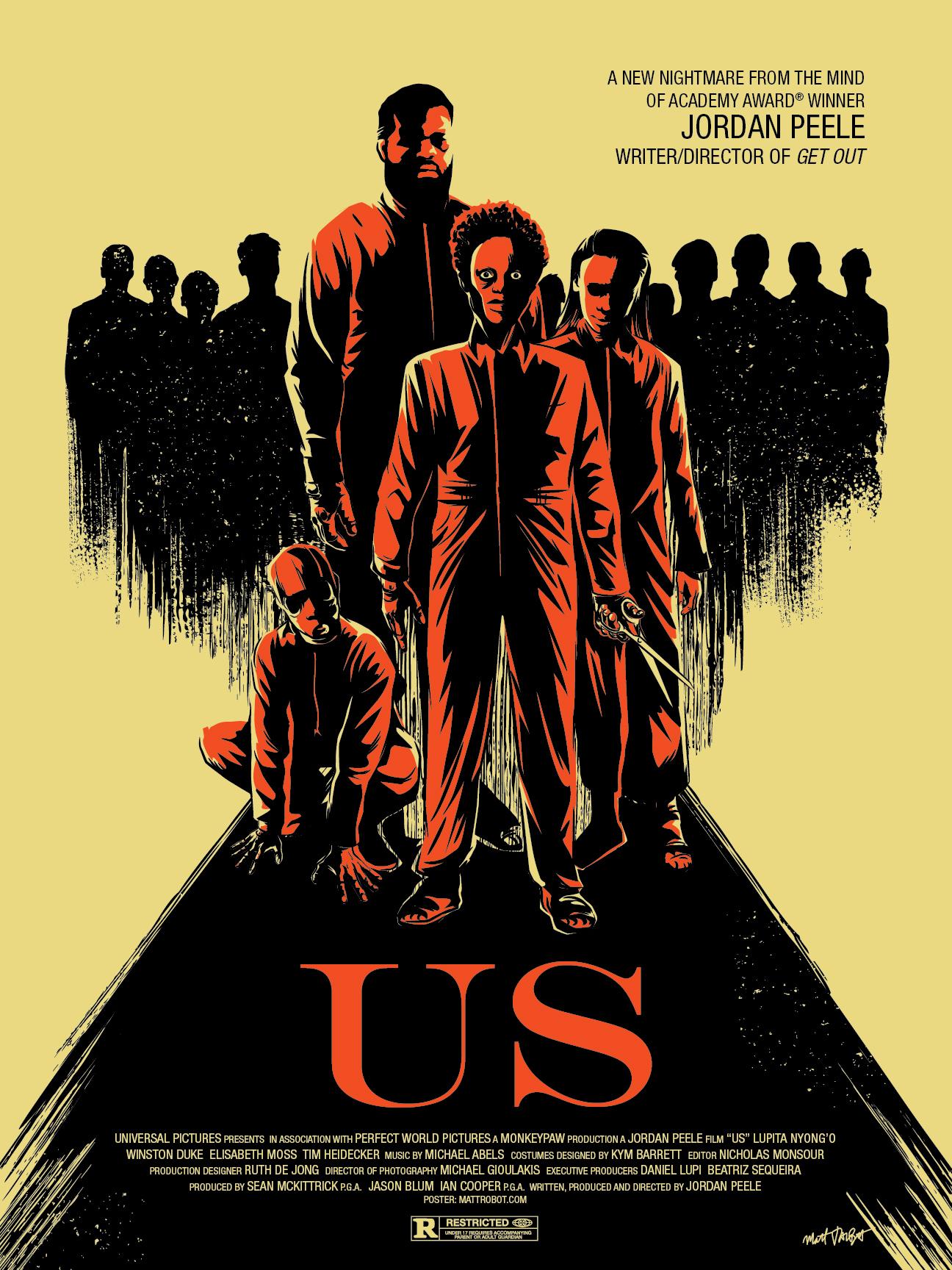 Jordan Peele's Us poster by Matt Talbot