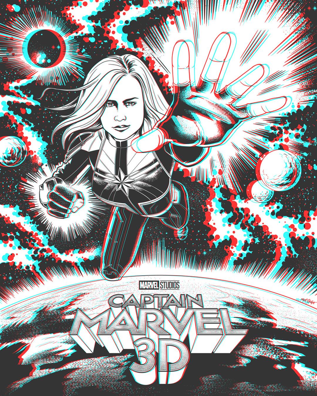 Captain Marvel 3D poster by Matt Talbot