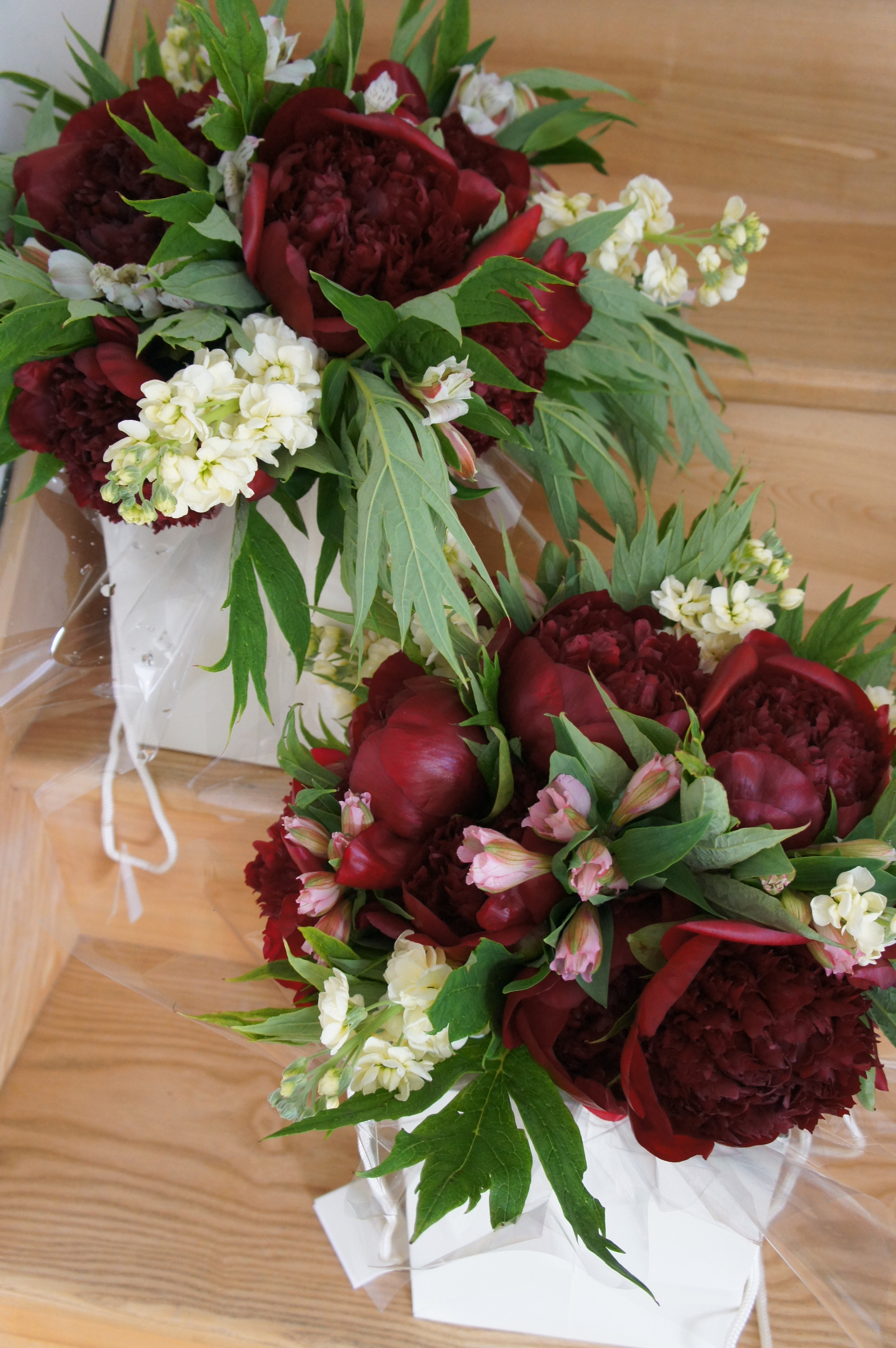 Red Charm bouquets
