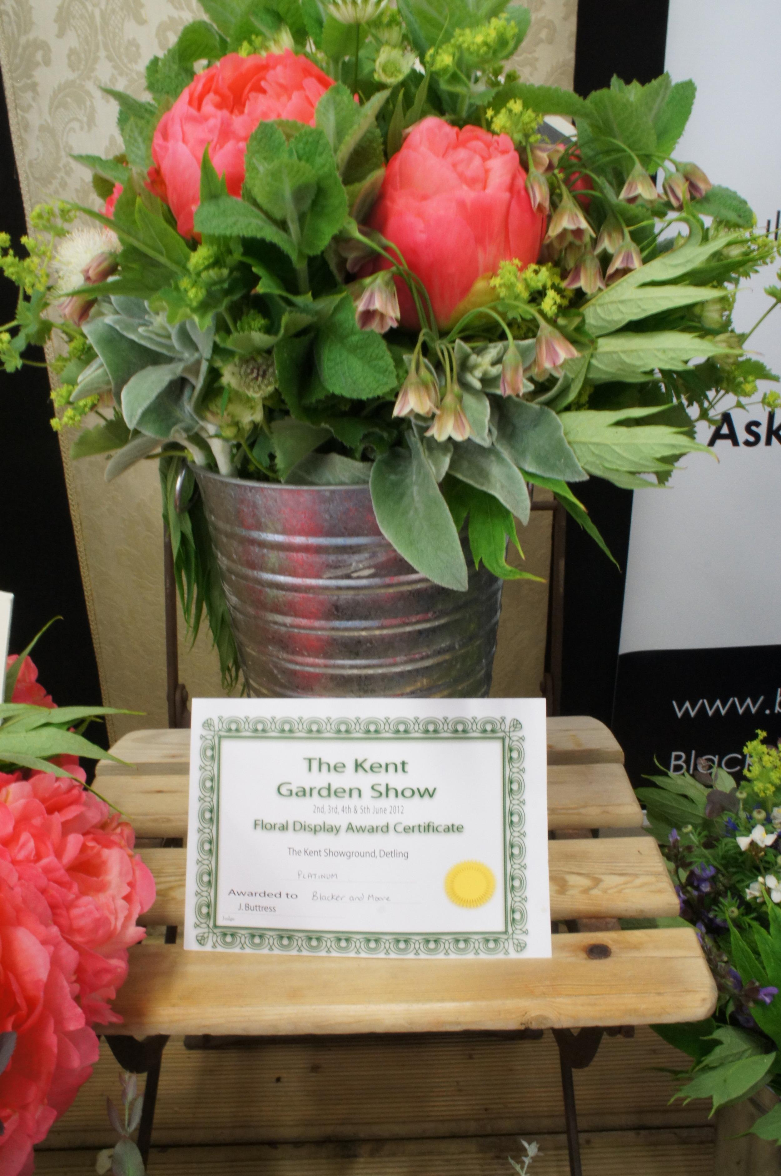 Winning Platinum at the Kent Garden Show
