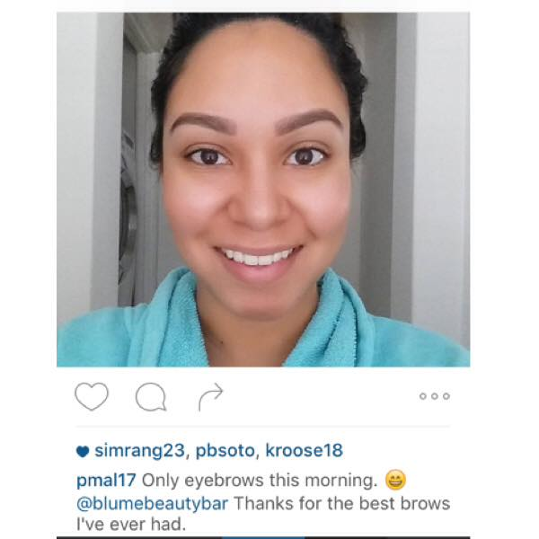 My gorgeous client with her browsonpoint There is no better compliment than her smile!!!