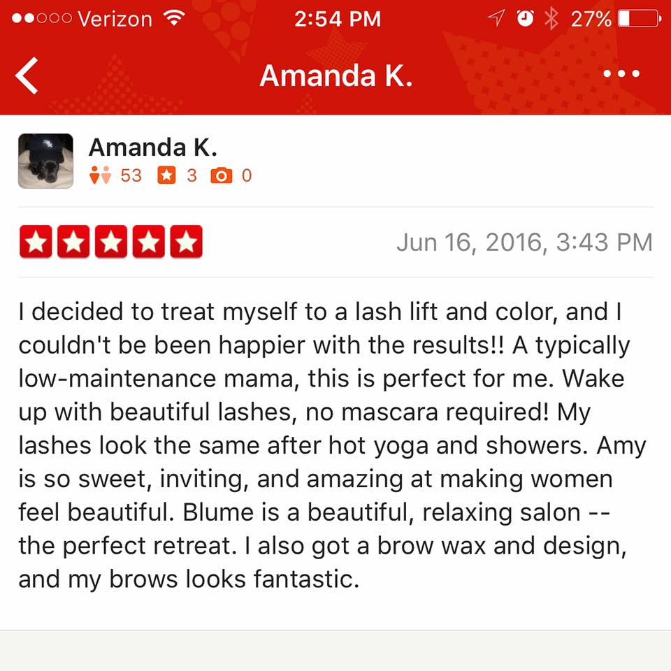 Thanks for yelping us Amanda! It was so fun having you in the salon!!! Our clients truly make our world go round ❤️ Blume blumebeauties hair.jpg
