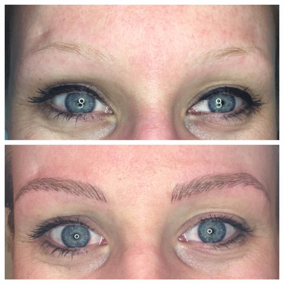 Stunning microblading work by Amy Miller at Blume Salon in Santa Clarita CA