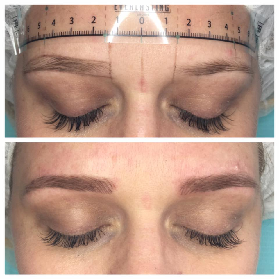 Stunning Microblading work done by the artist Amy Miller