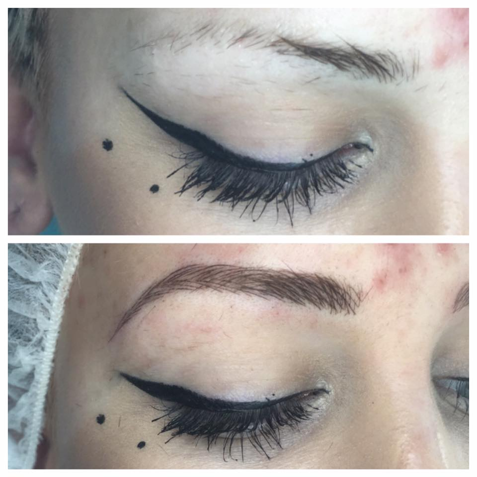 Semi Permanent Everlasting Microblading Eyebrows work done by the fantastic artist Amy Miller
