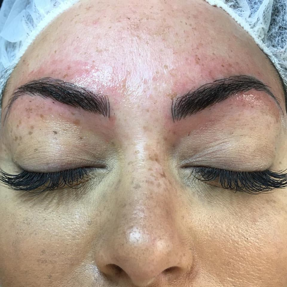 Beautiful Fresh Microblading by Amy Miller at Blume Beauty Salon