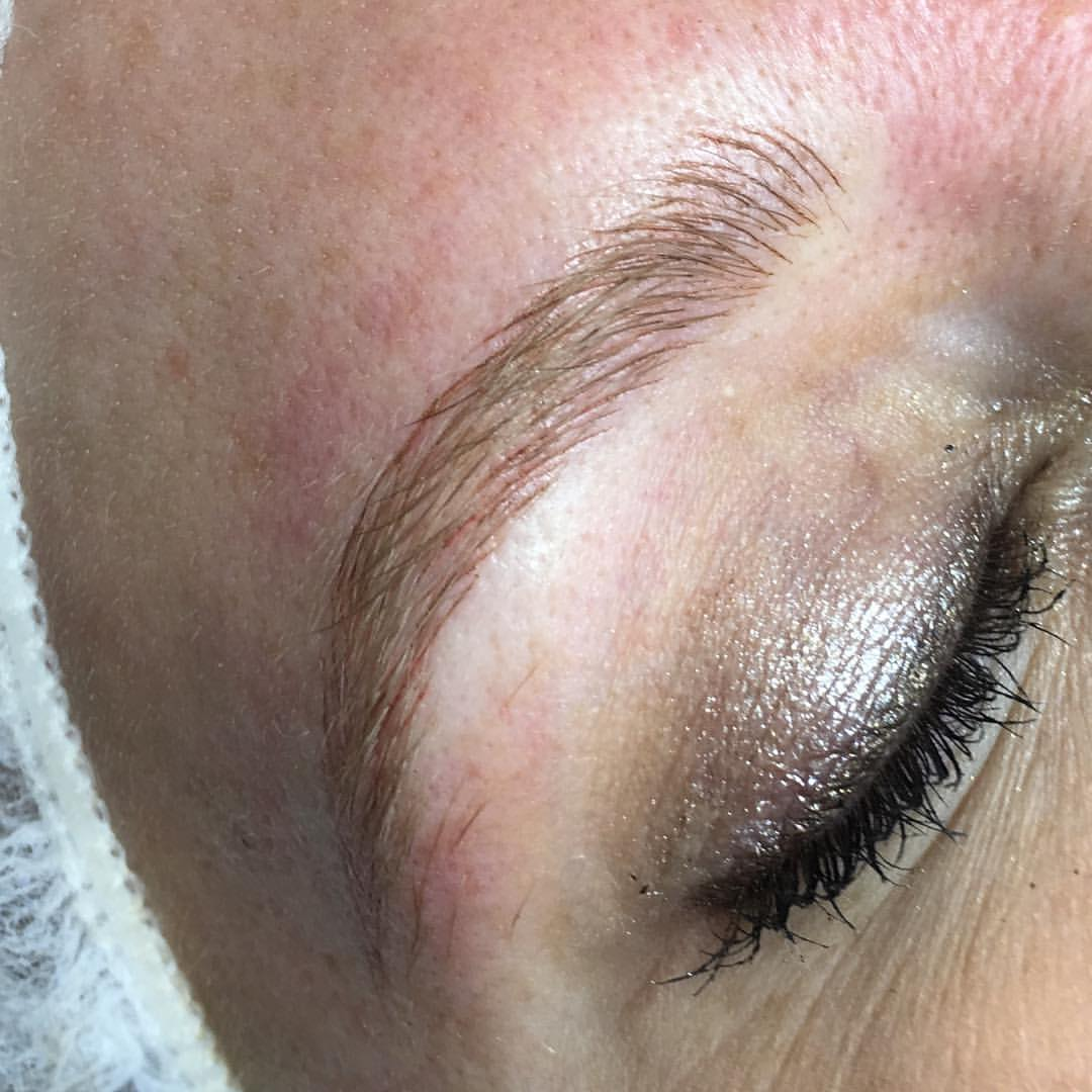 Stunning brow Mircroblading by Amy Miller at Blume Salon just a short drive from malibu in Santa Clarita CA