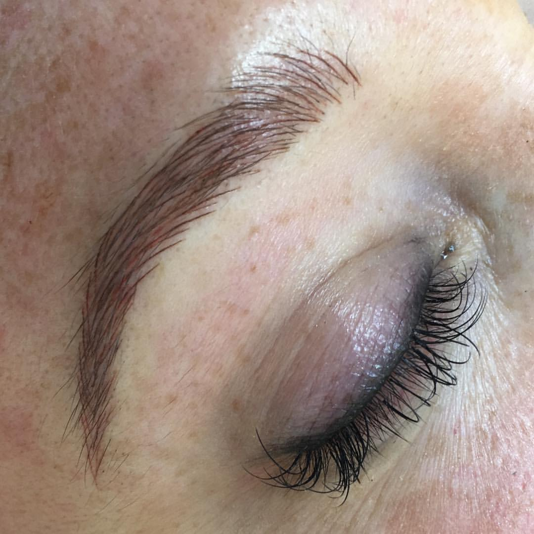 Stunning Microblading brows created by Amy Miller at Blume Beauty Bar located minutes from Stevensons Ranch CA