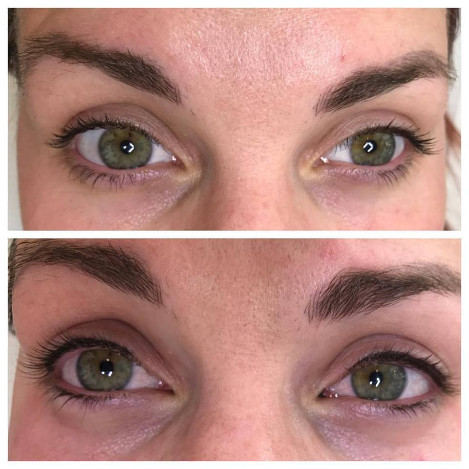 Before & After - Feather Stroke Eyeliner!