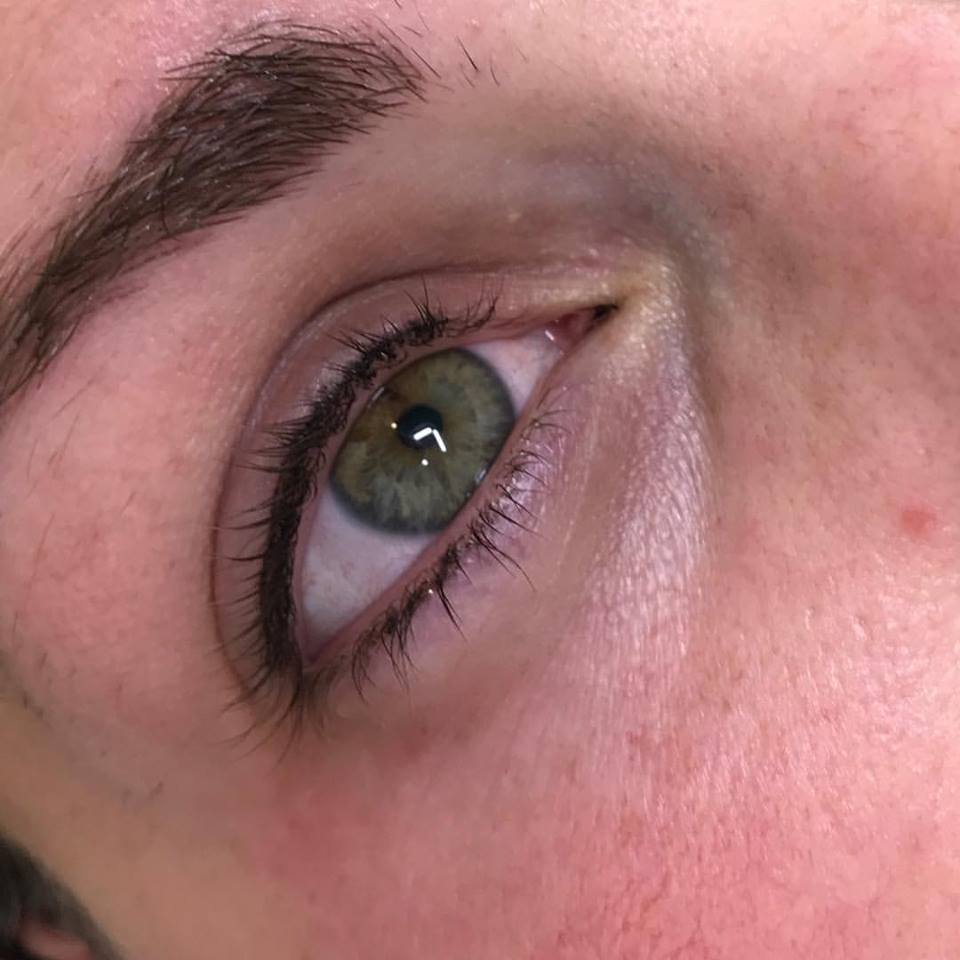 Fantastic Microblading Feather Stroke Eyeliner at Blume just north of Hollywood CA in the santa clarita valley