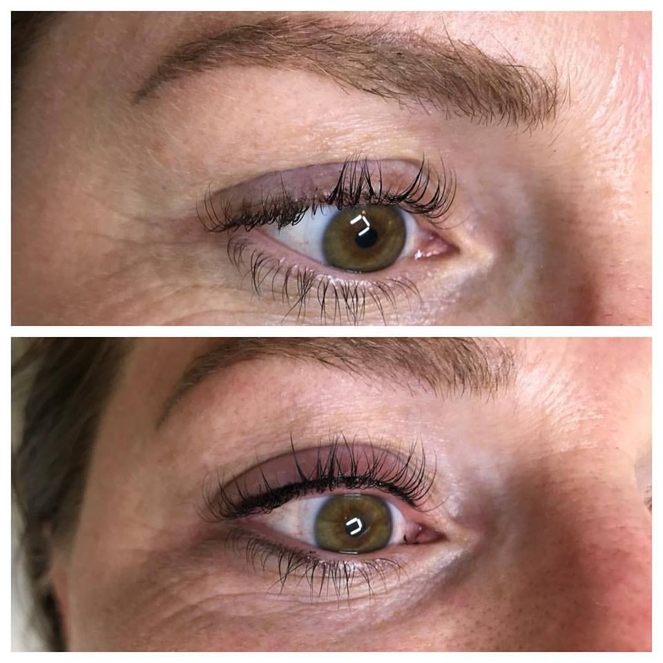 Microbladed brows and Feather Stroke Eyeliner by Amy Miller