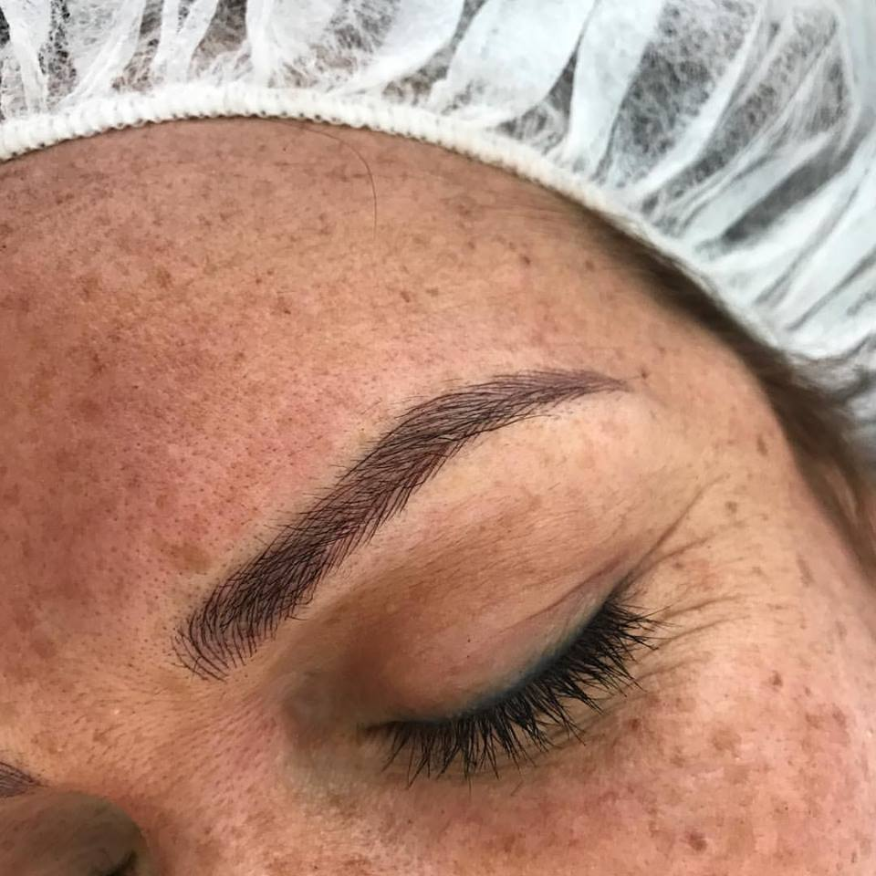 Stunningly Beautiful Microblading Brows done by Amy Miller at Blume Beauty Bar in Santa Clarita. Just a few short miles north of Hollywood CA book today and get your perfect brows