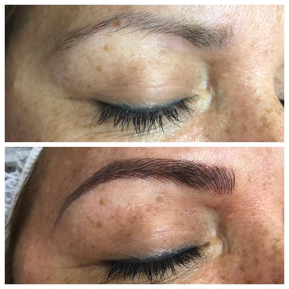 amazing microbladed brows by Amy Miller at Blume Salon just north of Bel air & Calabasas in the Santa Clarita Valley